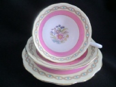 Royal Albert Pink & floral tea trio